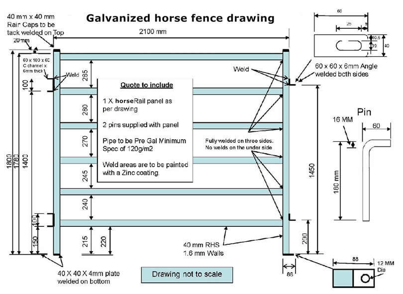 Galvanized Horse Fence Efficiently Protect Horse