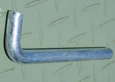 One galvanized fence panel pin